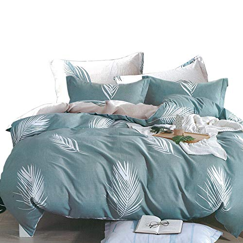 Essina Full/Queen Duvet Cover Set 3pc Valencia Collection, 100% Cotton 620 Thread Count, Reversible Duvet Cover, Pillow Sham, Lovella