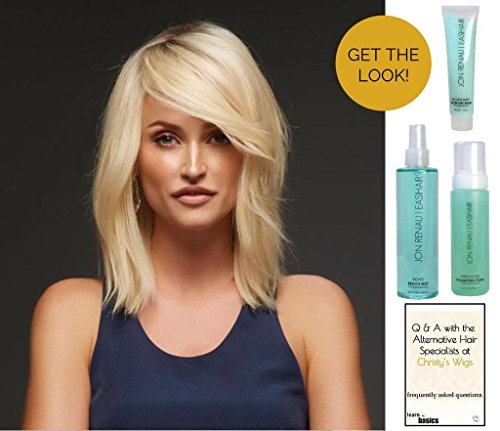 GET THE LOOK - Jon Renau Carrie Exclusive Human Hair Wig, 15 Page Christy's Wigs Q & A, Weightless Volumizing Foam, Boho Beach Mist & Blown Away Prep -Color 14_26S10 by Jon Renau & Christy's Wigs