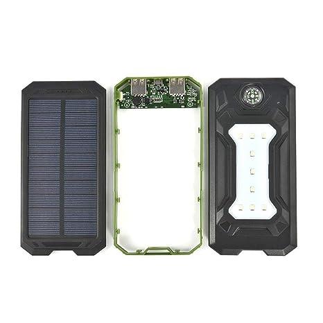 20000MAH Cargador Solar Portátil ,Impermeable al Aire Libre Panel Solar batería Externa con Dual USB