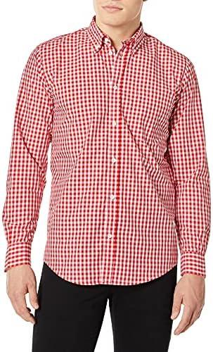 Chef Works - Camisa de Vestir para Hombre (Talla XXL), diseño de Cuadros, Color Rojo