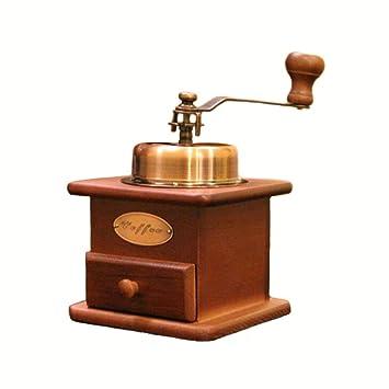 H.L Máquina Manual de café en Grano para moler, Madera, Grano de café, Especias, Estilo Vintage, Molinillo de Mano, café, hogar/Cocina: Amazon.es: Hogar