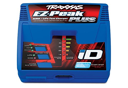 Traxxas 2970 EZ-Peak Plus 4-Amp NiMH/LiPo Fast Charger with iD Auto Battery Identification ()