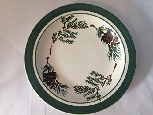 ll-bean-evergreen-salad-plate-featuring-pine-cones