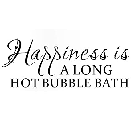 Dnven Black 43w X 17h Happiness Is A Long Hot Bubble Bath Decal