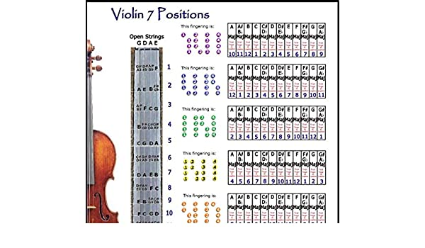 picture relating to Violin Finger Chart Printable identify : VIOLIN 7 Jobs POSTER: Musical Equipment
