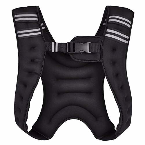 Fitness Maniac Weight Vests 10 lb15 lbs 20-Pound Weighted Vest Gym Weight Training Running Adjustable Strap Jacket Weight Fitness Gym Weight Loss Body Workout Vest (Jacket United Training)