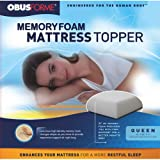 ObusForme King Memory Foam 3-Inch Thick Mattress Topper