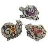 Decorative Stepping Stones For Garden Bundle: Three Items: Set Of 3 Garden Animal Stepping Stones