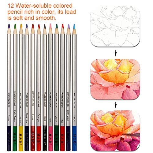 K Kwokker Charcoal Pencils for Drawing, 72 x Sketching Pencils for Artists, Colored Pencils for Adult Coloring, 5 Type of Pencil (Charcoal/Graphite/Colored/Watercolor/Metallic), Sharpener, Marker