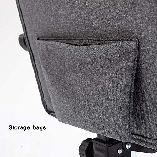 Kontorsstol, dator skrivbord stol tyg hög rygg verkställande uppgift chef spelstol armstöd dra ut fotpall knästol stol