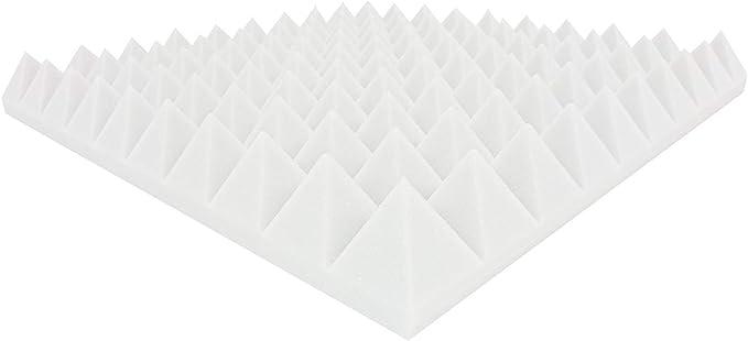 2 St 6cm Schwarz Akustik Schaumstoff Dämmung Pyramiden 2 St 6 cm Hell grau