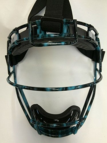 Youth Custom Schutt Teal and Black Infielder Face Guard by Schutt