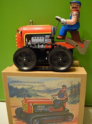 Tin Tractor Toy - Alexander Taron Tractor Tin Toy - Adult Collectible