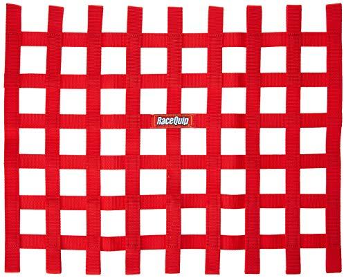 RaceQuip 721015 Red Ribbon Style Race Car Window Net- 18