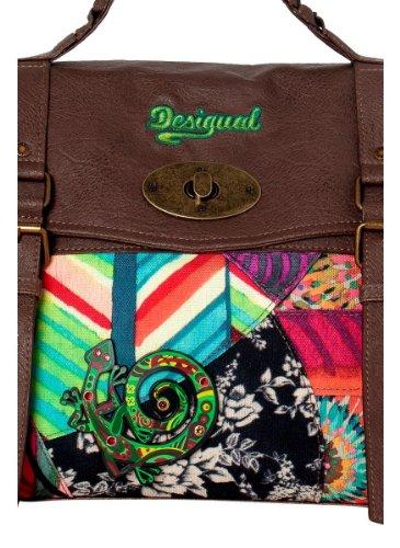 Desigual borsa stampa fantasia di colore verde e turchese