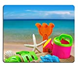 Liili Mouse Pad Natural Rubber Mousepads toys for childrens sandboxes against the sea and the beach 28412835