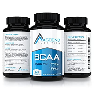 Ascend Nutrition BCAA Amino Acids Tablet - #1 Most Potent BCAA