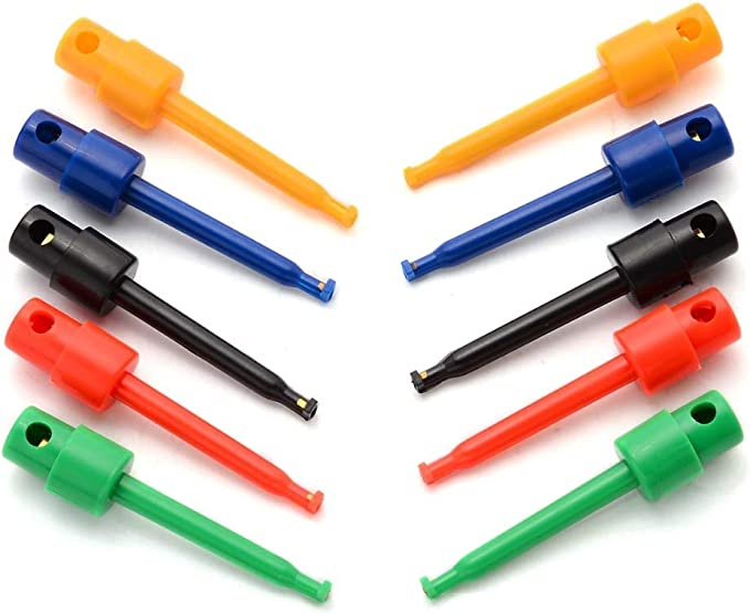 2x Multimeter Lead Wire Kit Test Hook Clip Grabbers Test Probe for SMT//SMD I U/_X
