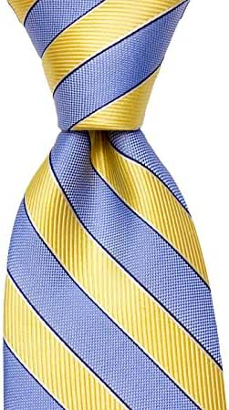 Light Baby Blue and Yellow Striped Silk Necktie by TieThis | The Bellewood