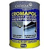 Cromapol Acrylic Waterproofing Coating Black - 5 KG by Cromapol