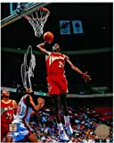 #5: Dominique Wilkins Autographed Atlanta Hawks 8x10 Photo #4 - Dunking on New Jersey