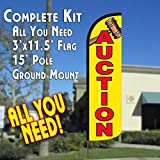 Auction Windless Feather Banner Flag Kit (Flag, Pole, & Ground Mt) Review