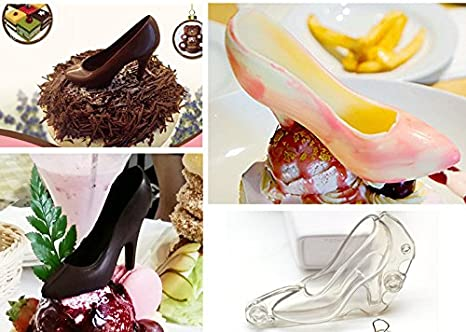 Amazon.com: WSTJY Mini 3D High Heel Shoe Mold, Chocolate Cake Decoration Mold, Sugar Paste Decorating Polycarbonate for Home Baking Craft Wedding Cake DIY ...