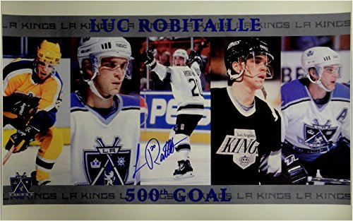 Luc Robitaille Signed Autographed 16x24 Photo 500th Goal Los Angeles Kings JSA