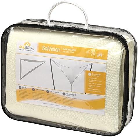 Protezione Triangolare Parasole e Anti UV Sol Royal Tenda a Vela Traspirante SolVision HS9-4,2x4,2x6m Antracite