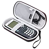 texas ti 86 - LTGEM Case for Texas Instruments TI-84, 89/83 / Plus / CE Graphics Calculator-Includes Mesh Pocket.(Hard and black)