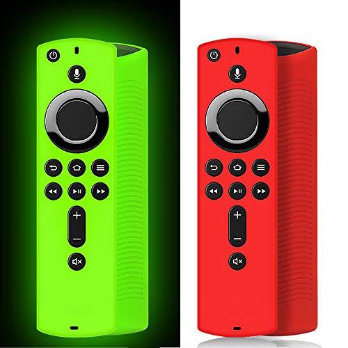 [2 Pack ] Firestick Remote Cover Case, Silicone Fire Remote Cover Case Compatible with 4K Firestick TV Stick, Firetv…