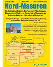 Landkarte Nord-Masuren: Heilsberg/Lidzbark, Bartenstein/Bartoszyce Rastenburg/Kętrzyn, Angerburg/Węgorzewo Lötzen/Gyżicko, Sensburg/Mrągowo: ... Masurische Seenplatte, nördlicher Teil: 6