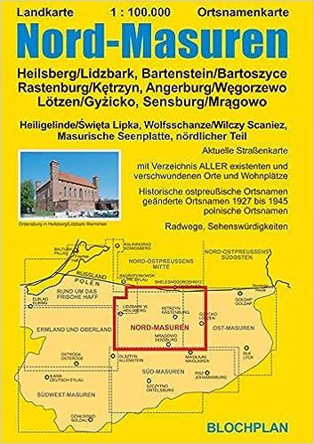 Wolfsschanze Karte.Landkarte Nord Masuren Heilsberg Lidzbark Bartenstein