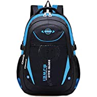 Waterproof School Bag Durable Travel Camping Backpack for Boys and Girls