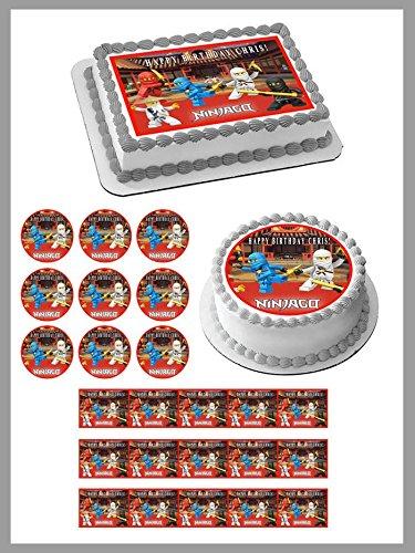 LEGO NINJAGO 1 Edible Cupcake Toppers - 1.8