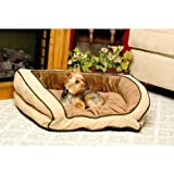 K&H Bolster Couch Pet Bed, Small 21-Inch by 30-Inch, Mocha/Tan by K&H Manufacturing