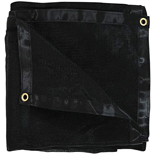 Sunnydaze 12-Foot x 20-Foot Mesh Tarp, Multi-Purpose UV-Resistant Black High-Density Polyethylene 20' Black Mesh Tarp