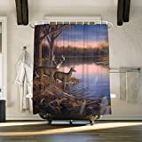 Best River's Edge Homes Curtains - Custom River Edge Deers Shower Curtains for Bathroom Review