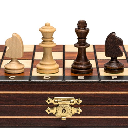 Travel Magnetic Chess Set w/ Wooden 10.4