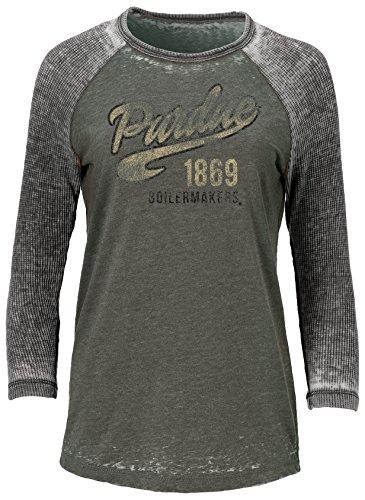 Ouray Sportswear NCAA Purdue Boilermakers Adult Women W Baseball T, Medium, - Purdue Watch Boilermakers Sport Ncaa