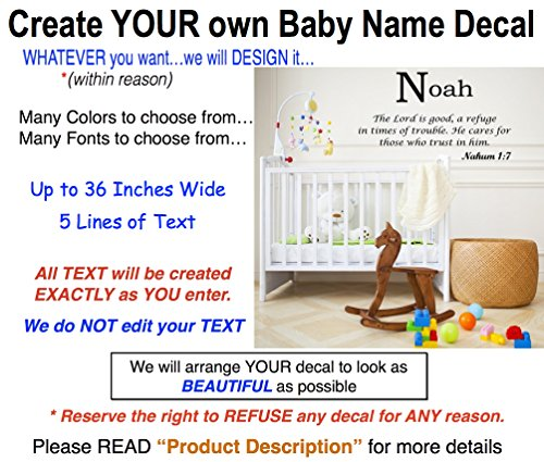 Custom Name Meanings Wall Decals for ZOE. Create your own ZOE Baby Name Meanings Decal for girls or boys. We can make a Personalized Baby Name Wall Decal or any Custom Decal for YOU