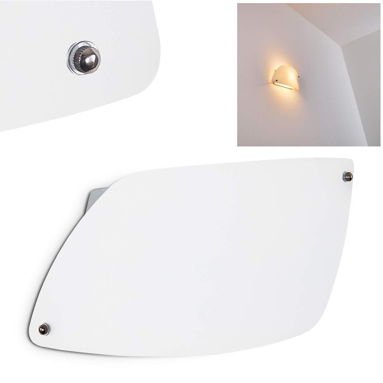 Aplique Anzio de vidrio blanco - Lá mpara moderna para saló n - dormitorio - pasillo Hofstein