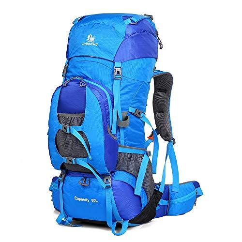 Grande Pacchetto affari Uomo 80 Tenda Blu Per Viaggi Piedi Multifunzione college Borsa E Campeggio Impermeabile Viaggiare Outdoor Donna Capacità Di Zaino Alpinismo A L Da donne Esterno WRPgcpWTy
