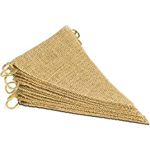 ThxToms 15Pcs Burlap Banner, DIY Decoration for Wedding and Party, 14feet