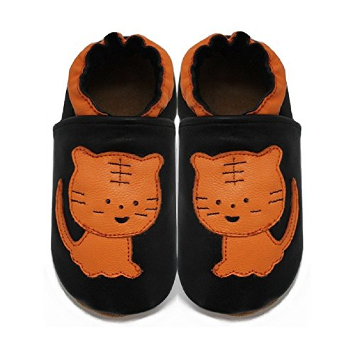 MeliMelo - Chaussons Cuir Souple Tigre