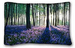 Custom Cotton & Polyester Soft Nature Custom Cotton & Polyester Soft Rectangle Pillow Case Cover 20x30 inches (One Side) suitable for X-Long Twin-bed