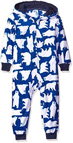 The Children's Place Boys' Little Long Sleeve One-Piece Pajamas, Polar Bear Blue 72528 S (5/6) - Sleeve Polar Top Long Fleece