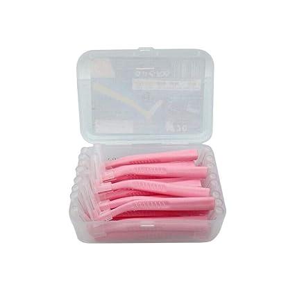 YakeHome 20 PCS/Caja Cepillo Interdental En Forma De L Cepillo Interdental Tipo De Ortodoncia para La Limpieza del Diente