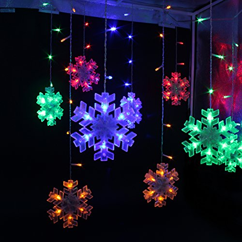 festival holiday hanging tree lights indoor outdoor string lights 132 bulbs 3m 10ft snow string lights for bedroom patio parties colorful light - Outdoor Christmas Wall Decorations