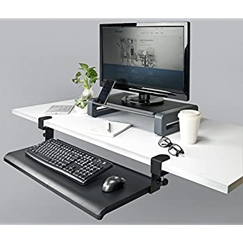 Amazon Com Desk Clamp Keyboard Tray Office Products